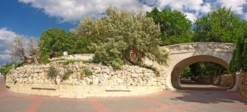 The central sea-front of Sevastopol. Panorama Royalty Free Stock Photography