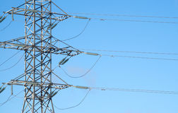 Central section of power line support Stock Photography