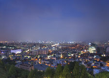Central seoul south korea at night Stock Photos