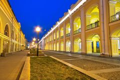 Central shopping malls in Saint Petersburg. Night view of central shopping malls of Saint Petersburg Stock Images