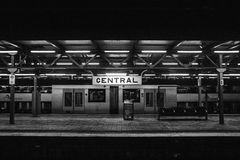 Central Signage on Train Station Royalty Free Stock Images