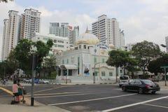 Central Sikh Gurdwara in Singapore, Sikhism. The central Sikh Gurdwara is the largest Gurdwara in Singapore. Many sikhs attend service here. Many punjabi Royalty Free Stock Image