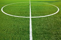 Central of a soccer field Royalty Free Stock Photo