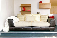 Central sofa Royalty Free Stock Photography