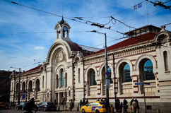 Central Sofia Market Hall and synagogue in Sofia,Bulgaria Stock Photography