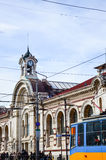 Central Sofia Market Hall and synagogue in Sofia,Bulgaria Stock Image