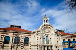 Central Sofia Market Hall and synagogue in Sofia,Bulgaria Stock Images