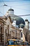 Central Sofia Market Hall and synagogue in Sofia,Bulgaria Stock Photo