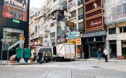 Central Soho street in Hong Kong