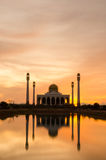 Central Songkhla Mosque. Sunset at Central Songkhla Mosque Stock Images