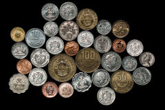Central South American Caribbean Coins Royalty Free Stock Photos