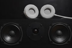 Central speakers from a 7.1 THX Hi-Fi sound system Royalty Free Stock Photography