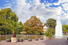 central springbrunnpark Arkivfoto