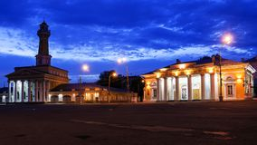 The central square of ​​the city, Kostroma, Russia Royalty Free Stock Photos