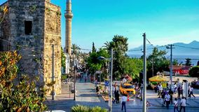 Central square of Antalya stock video