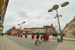 Central square of Ante Starcevic in Osijek. Royalty Free Stock Photography