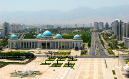Central square. Ashkhabad. Central square in Ashkhabad city. Turkmenistan Stock Photography