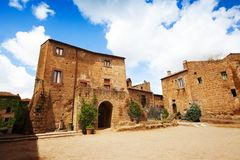 Central square in Bagnoregio Stock Photography