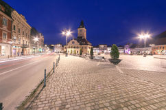 Central Square in Brasov Royalty Free Stock Photos