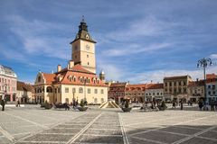 Central Square in Brasov Stock Images
