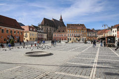 Central Square in Brasov Stock Photo