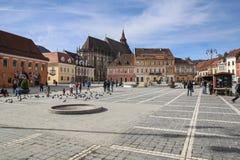 Central Square in Brasov Stock Photo