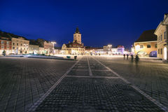 Central Square in Brasov Royalty Free Stock Image