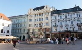 Central square  in Bratislava, Slovakia Stock Image
