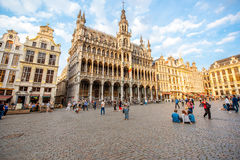 Central square in Brussels city Stock Images