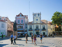 Central Square in Cascais, Portugal Stock Photos