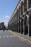 Central square of the city - Plaza de Armas. Stock Photography