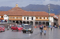 Central square of the city - Plaza de Armas. Royalty Free Stock Image