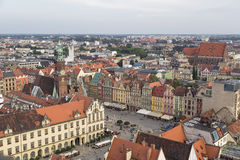 Central square of the city of Wroclaw Stock Images