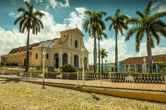Central square in colonial city of Trinidad, Cuba Stock Images