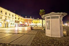 Central square colorful architecture in Italian town of Palmanov Royalty Free Stock Photos