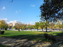 The central square of Corfu. In Greece autumn Royalty Free Stock Photo