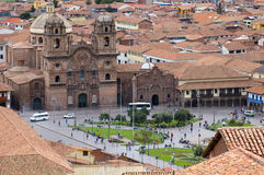 Central square of Cuzco, Peru royalty free stock images