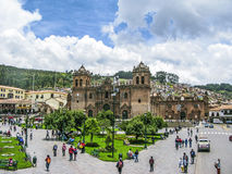 Central square In Cuzco, Plaza de Armas. Peru. Stock Photo