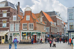 The central square  in Delft. Netherlands Stock Photography
