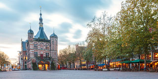 The central square in the Dutch city Deventer Stock Image
