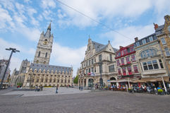 Central Square. Ghent. At the central square of Ghent stock photography