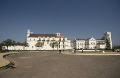 Central square in Goa. Central square, View of Museum of St Francis of Assisi and Se Cathedral or Cathedral of St. Catherine of Alexandria. Old Goa, India Royalty Free Stock Images