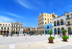 Central square in Havana, Cuba royalty free stock photos