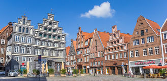 Central square in the historic old town of Luneburg Royalty Free Stock Images