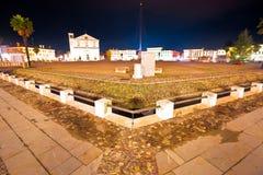 Central square in Italian town of Palmanova evening view. Friuli Venezia Giulia region of Italy Royalty Free Stock Images