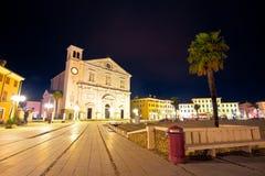 Central square in Italian town of Palmanova evening view. Friuli Venezia Giulia region of Italy Stock Images