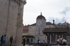 Central square of Ivana Pavla II, Trogir Royalty Free Stock Image