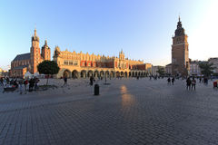Central square of Krakow Royalty Free Stock Photos