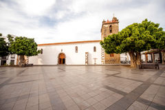 Central square on Los LLanos city. Central square with Nuestra Seora de Remedios church in Los Llanos city on the western part of La Palma island stock photography