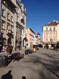 Central square of Lviv Stock Photography
